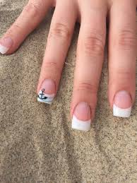 my summer beachy nails gel pink and white french manicure with a