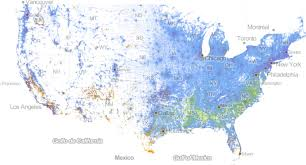 Color Coded Map Of Usa by Incredibly Detailed Map Shows Race Segregation Across America In