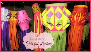 diy diwali decor colorful lanterns youtube