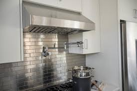 Stainless Steel Kitchen Furniture by Kitchen With Stainless Steel Backsplash Ellajanegoeppinger Com