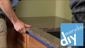how to install a kitchen countertop buildipedia diy youtube