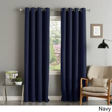 Blackout Curtain Panels Aurora Home Silver Grommet Top Thermal Insulated 108 Inch Blackout