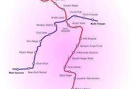 Metro Lines Map by A Map Showing The Line Routes Of The Jaipur Metro Rail Project