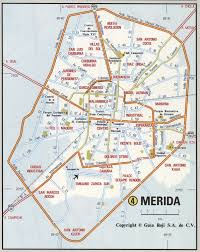 Mexico Cities Map by Merida Road Mapfree Maps Of Us
