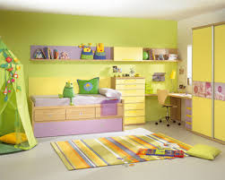 lime green and white themed kids room paint ideas with simple