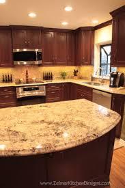 Kitchen Backsplash Cherry Cabinets by Dark Cherry Cabinets With Granite Counters Kitchen Plans