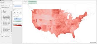 Drought Map Usa by How To Make Small Multiple Maps In Tableau Dataremixed
