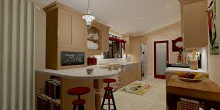 Mobile Home Kitchen Cabinet Doors Cream Modern Wall Trailer Homes With White Lamp And Wooden Cabinet