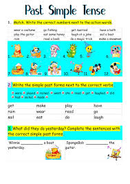 past simple tense interactive worksheet