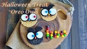 easy diy halloween treats how to make oreo owls cookies youtube