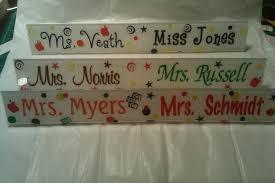 Custom Desk Name Plates by Personalized Acrylic Desk Name Plate Custom Teacher Secretary