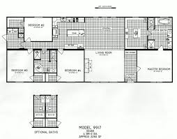4 bedroom floor plan c 9917 hawks homes manufactured