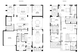 Simple 4 Bedroom Floor Plans Simple Modern Double Storey House Plans Escortsea