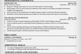 Financial Planner Resume Sample by Financial Advisor Resume Examples Reentrycorps
