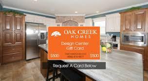 free 500 gift card oak creek homes
