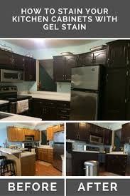 Kitchen Cabinets Stain Diy Gel Stain Cabinets No Heavy Sanding Or Stripping Wood Grain