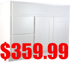 Bathroom Vanity 42 by White Shaker 42 Inch Bathroom Vanity Cabinet With Left Drawers