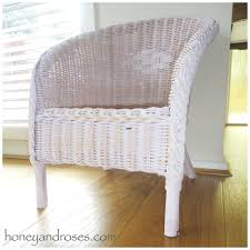 Painting Wicker Patio Furniture - how to paint a wicker chair with chalk paint honey u0026 roses