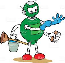 Cleaning Robot by Cleaning Robot Clip Art Vector Images U0026 Illustrations Istock