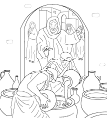 sunday coloring page the wedding at cana jan6 water into