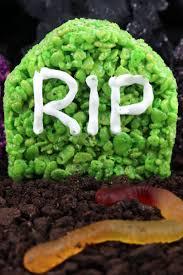 halloween dirt cake graveyard graveyard rice krispie treats two sisters crafting