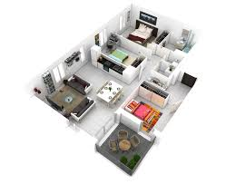 More  Bedroom D Floor Plans - Apartment house plans designs