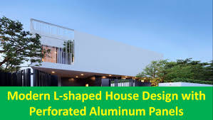 L Shaped Towhnome Courtyards Modern L Shaped House Design With Perforated Aluminum Panels Youtube