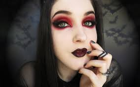 gothic vampire black and red makeup tutorial youtube