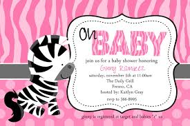 pink zebra baby shower invitations template best template collection