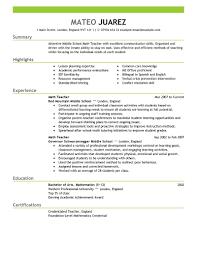 Sample Of Cv For Teaching Job Tefl Resume Sample Cv Format For MyPerfectCV co uk