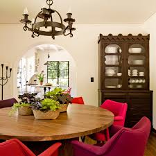 round dining tables dining room mediterranean with bold color bold