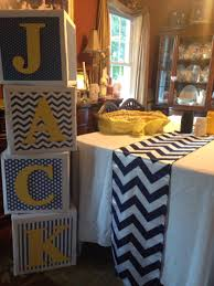 Boy Baby Shower Centerpieces by Boy Baby Shower Nautical Theme Baby Blocks Babyshower