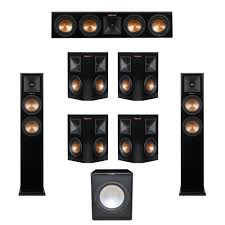 7 1 home theater system klipsch 7 1 system with 2 rp 250f tower speakers 1 rp 440c center