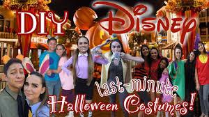 last minute diy disney halloween costumes solo group u0026 couple