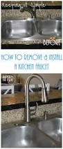 keeping it simple how to remove and install a kitchen moen faucet
