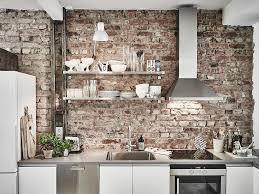 Fake Exposed Brick Wall Scandinavian Interior Apartment With Mix Of Gray Tones Brick