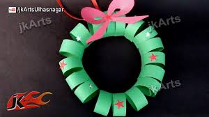 how to make paper christmas wreath diy christmas decorations