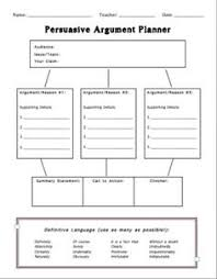 This is a great graphic organizer and planner for students learning the structure and components of an argument five paragraph essay  Pinterest