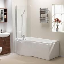 genesis california u0027p u0027 shaped shower bath screen u0026 front panel