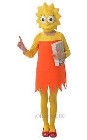 lisa simpson girls fancy dress the simpsons cartoon tv show kids