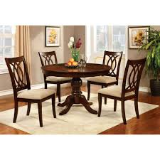 Dining Room Sets With Round Tables Amazon Com Furniture Of America Frescina Round Dining Table Tables