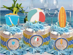 summer ocean beach surfer baby shower diaper cake u2013 pavia party favors