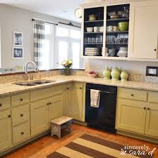 How To Paint Kitchen Cabinets Like A Pro Painting Kitchen Cabinets With Chalk Paint Update Sincerely Sara D