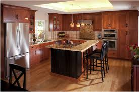 oak wood colonial shaker door cherry cabinets kitchen backsplash