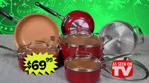black friday ceramic cookware ollie u0027s 2016 black friday deals red copper cook set youtube
