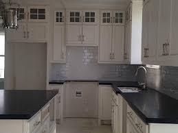captivating black color kitchen honed granite countertop featuring