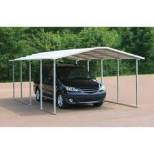 natural brown metal carport plans can be decor with green grass