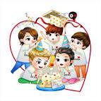 B1A4] รูปการ์ตูนเด็กเลือด ฉลองวันเกิดเน่และแฮม น่ารักมากๆเลย ...