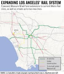 Los Angeles Light Rail Map by The Quad The Pros And Cons Of Measure M Daily Bruin