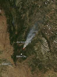 New Mexico Wildfire Map by Pioneer Fire In Idaho Nasa